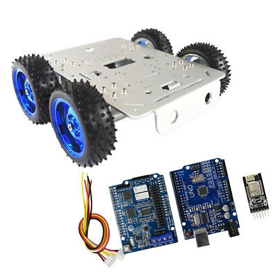 Smart Motor Robot Chassis Kit WiFi Driver Kit and Battery Box for Arduino