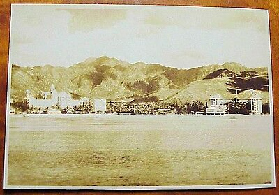 "1930's Offshore View Waikiki Hotels Moana Royal Hawaiian TH 4 5/8"" x 6 1/2"""