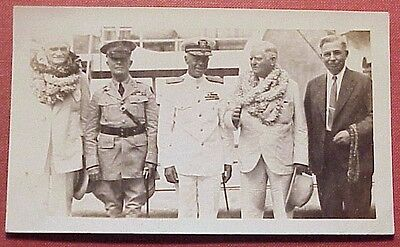 1930's Military Brass Govt Officials w/ Hawaii Territorial Governor Poindexter