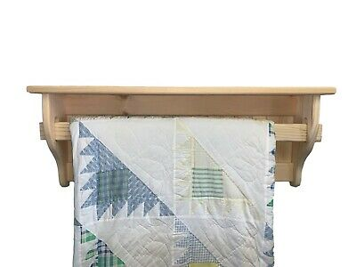 Blanket Rack Holder Wall Hanging Wood Quilt Rack Unfinished