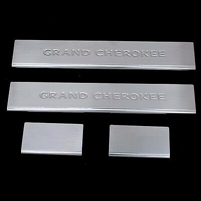 4PCS Stainless Steel Door Sill Scuff Plate For 2011-2019 Jeep Grand Cherokee