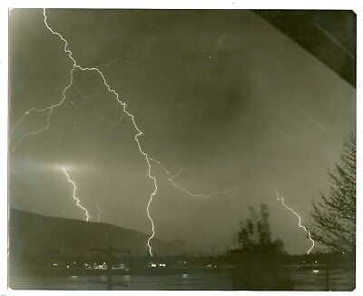 A2007~ Fabulous 1930's PA Lightning Strike 8X10 Photograph by C Apgar