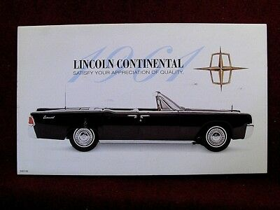 Franklin Mint Mailer/ Brochure - 1961 Lincoln Continental