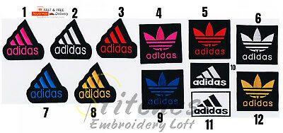 Adidas Logo Embroidered badge Patch iron Sew On Clothes Jackets Sports