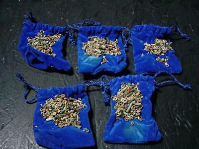 NobleSpirit NO RESERVE (3970) Exciting x5 Pouches of Egyptian Nile Faience Beads