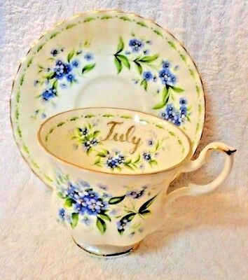 Royal Albert Flower of the Month July  Cup and Saucer 1970
