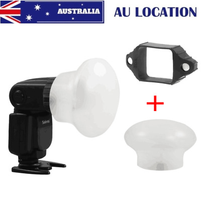 AU Selens Magnetic Flash Speedlite Modifier Sphere Diffuser Bounce + Rubber Band