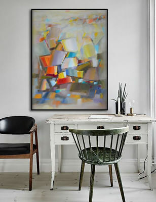 Hand Painted Abstract Canvas Oil Painting Wall Art Home Decor