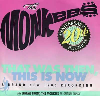 """The Monkees """"That Was Then, This Is Now"""" NM Arista 45rpm w/ PS PROMO"""