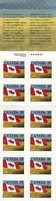 Canada MNH 1990 sc#1192 Quick Stick 39¢ Flag over Prairie Booklet of 12