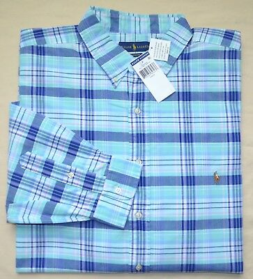 Neuf 4XB 4XL Grand 4x Polo Ralph Lauren Hommes Manches Longues Chemise  Oxford 2e0f315aa41