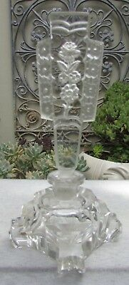 Stunning Vintage Czech Crystal Art Deco Perfume Decanter