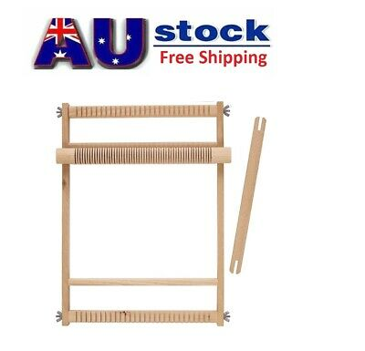 Weaving Loom Natural Large/ Small Wooden Crafts Sturdy Weave Wood Table Art