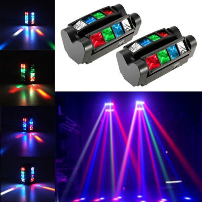 2PCS 120W RGBW LED Spider Moving Head Stage Beam Lights Disco Party DJ Show Lamp
