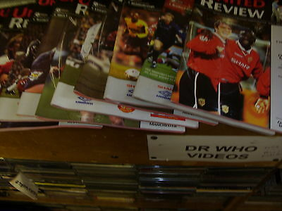 Manchester United Football Programmes X 45 Premier & Champions  League FA Cup