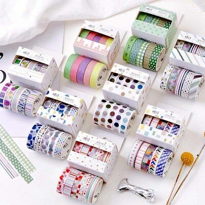 5 Pcs/lot Washi Tape Decorative Paper Stickers Scrapbooking Adhesive Stationary