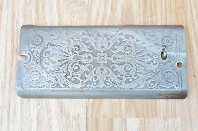 Vintage Singer Sewing Machine Simanco Ornate Front Plate Cover
