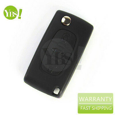 Fits Peugeot 207 307 407 SW 308 607 Remote Key Fob Shell Case 3 Buttons Remote