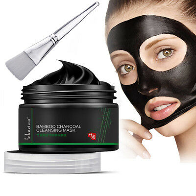 AM_ Deep Cleansing Blackhead Remover Peel Off Bamboo Charcoal Facial Mask Brush