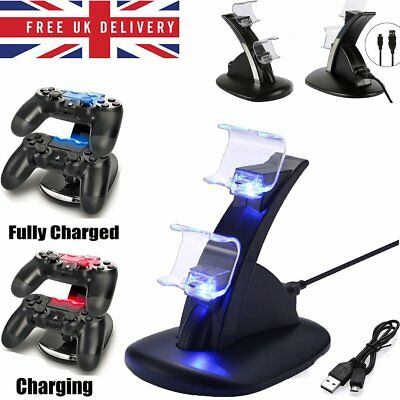 Dual USB Charger LED Charging Docking Station Stand for Sony PS4 Controller