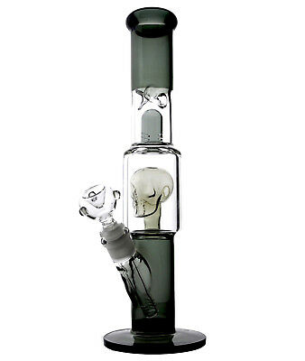 Glass Bongs With Skull Bong Glass Water Pipes Tall Thick Beaker Bongs Bubbler