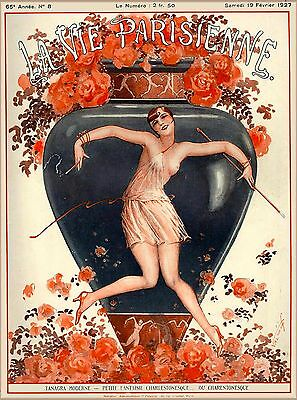 1927 La Vie Parisienne Tanagra Moderne French France Travel Advertisement Poster