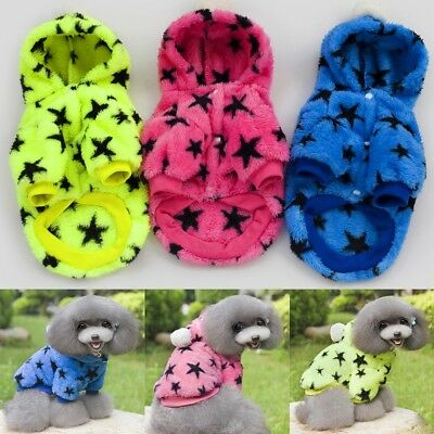 Pet Clothes Sweater Hoodie Chihuahua Small Dog Coat Jacket Fleece Soft Warm