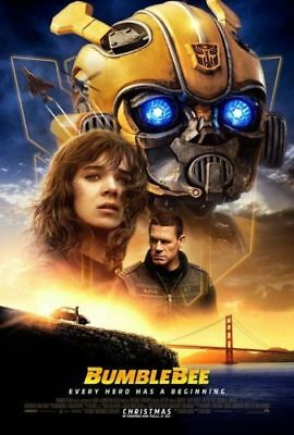 J018 BumbleBee Movie Poster Travis Knight 2018 Transformers Film Print