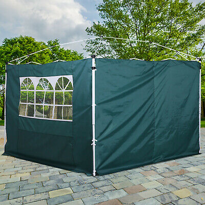 Outsunny Gazebo Replacement Exchangeable Side Wall Panels w/  Window Green