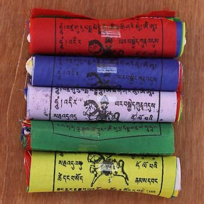 "50 pieces 3""x3"" Tibetan Buddhist polyster prayer flags mantra wind horse Lungta"