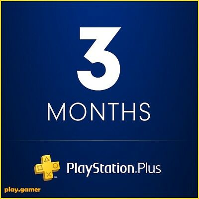 *5 Minute Delivery* 3 Months Playstation Plus - Ps3/ps4/psvita