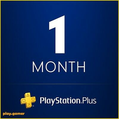 *5 Minute Delivery* 1 Month Playstation Plus - Ps3/ps4/psvita