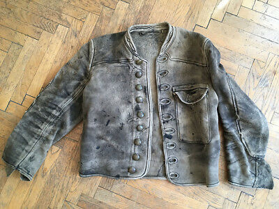 RARITÄT Hirschleder Jacke Altsämisch Säckler //// UNIQUE Deerskin Leather Jacket
