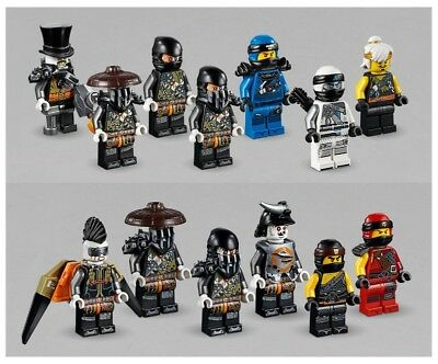 Lego Ninjago Hunted 13 Mini Figures Iron Baron Cole Zane
