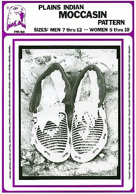 Native American Plains Indian Moccasin Men Women - Eagles's View Sewing Pattern