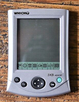 Vintage Which? 3KB Memory Electronic Personal Organiser