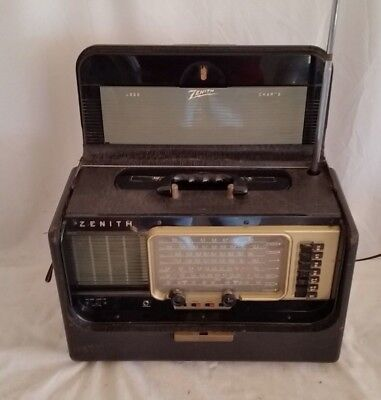 Vintage Zenith Wave Magnet Trans-Oceanic Radio Model A600 - 6A40-6A41 Working