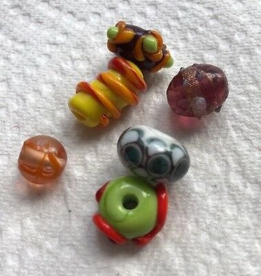 Vintage Loose  Art Glass Beads Crafting Jewelry Making Lot C-19