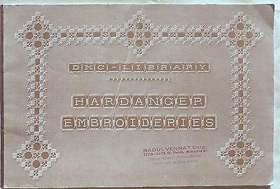 Vintage DMC Hardanger Embroidery First Edition Series Pattern Book - 1952