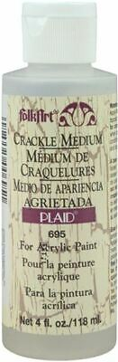 Folkart Crackle Medium - 4Oz - Plaid:Craft