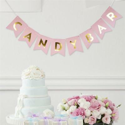 Candy Bar Hanging Banner Buntings Fashion Birthday Party DIY Decorations C