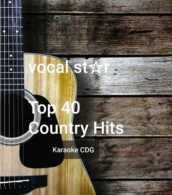 Karaoke Cdg   Vocal Star Huge Country Hits  2 Discs  40  Top Tracks