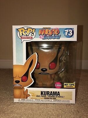 Funko Pop Animation!  #73 Flocked Kurama Naruto Shippuden Hot Topic Exclusive !