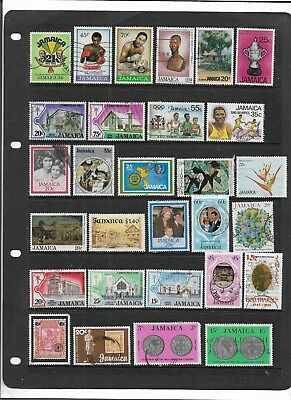 Jamaica Commemorative Stamps All Different Colourful  Used Collection