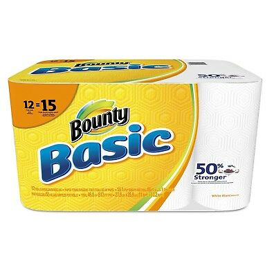 Bounty Basic Paper Towels, 1-Ply (55 sheets per roll, 12 rolls per pack)