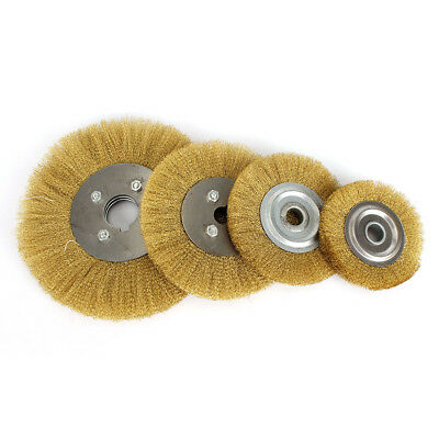 100mm-250mm Brass Wire Wheel Brush For Metal Derusting Wood Grinding Polishing