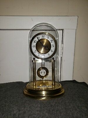 Linden Dome Mechanical Chime Battery Pendulum Mantle Cookoo Clock #7075