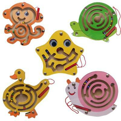 Kids Educational Toys Wooden Magnetic Maze Labyrinth Toy Jigsaw Puzzle Game Toy