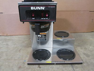 """""""BUNN VP17-3"""" H.D. COMMERCIAL (NSF) """"POUR-OVER"""" COFFEE BREWER w/3 POT WARMERS"""