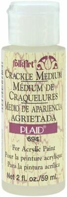 Folkart Crackle Medium - 2Oz - Plaid:Craft